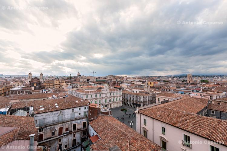 City view of Catania, Sicily - Italy, 2017