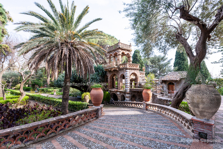 Giardini della Villa Comunale in Taormina, Sicily - Italy, 2017