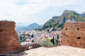City view from the ancient theatre of Taormina, Sicily - Italy, 2017