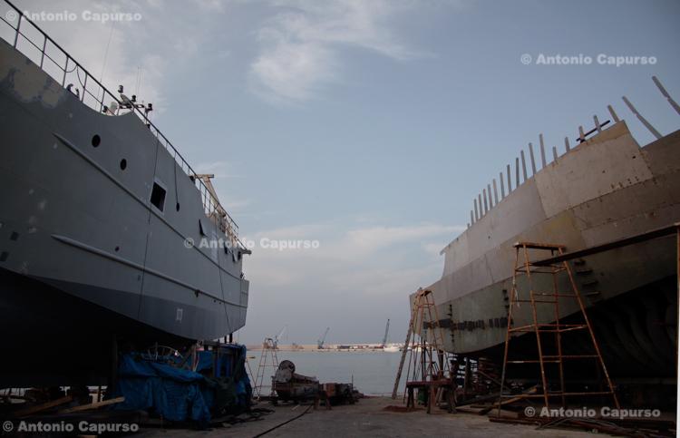 Shipyards near Molfetta's harbour