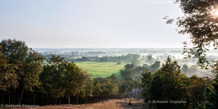 Sunrise view from the hilltop of Wat Saphan Hin, Sukhothai - Thailand, 2013