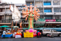 Buddha statue with multiple arms in Bangkok's streets - Thailand, 2013