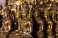 Golden Buddha statues inside Wat Chedi Luang Temple, Chiang Mai - Thailand, 2013