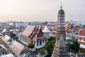 View of the  Bangkok Yai district from the Wat Arun - Bangkok - Thailand, 2013