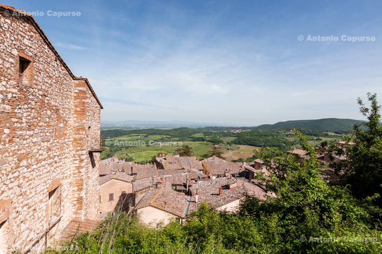Parnoramic view in Montalcino - Tuscany, Italy - May 2016