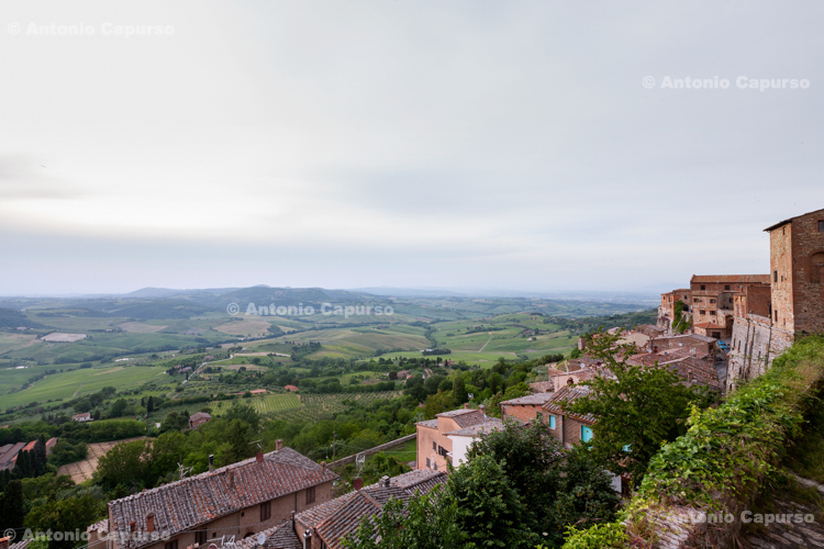 Parnoramic view in Montalcino (2) - Tuscany, Italy - May 2016
