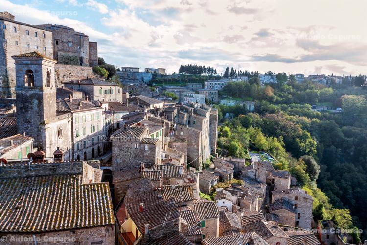 The citiy centre of Sorano in Maremma, Tuscany - Italy (November 2012)