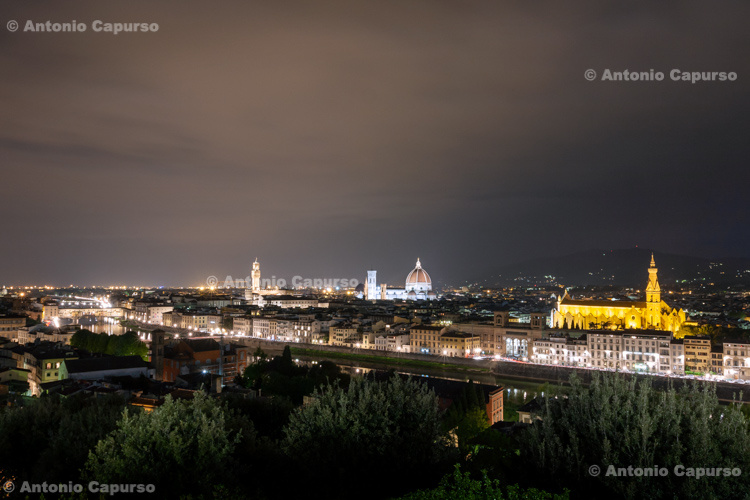 Nocturnal view of Firenze, Tuscany - Italy, 2013