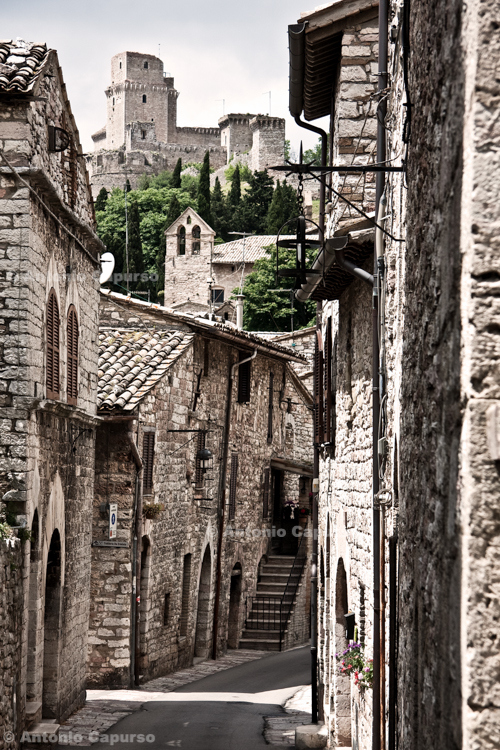 Old town, Assisi - Umbria, Italy - May 2010