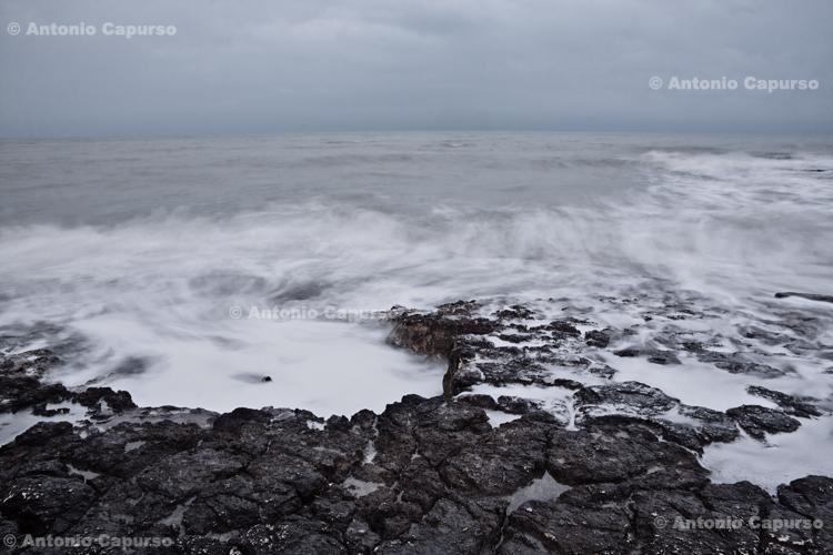 Winter sea from Torre Gavetone