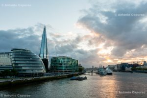 The Shard and the Thames - London, May 2014